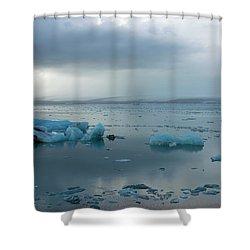 Shower Curtain featuring the photograph Jokulsarlon, The Glacier Lagoon, Iceland 1 by Dubi Roman