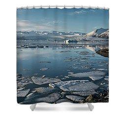 Shower Curtain featuring the photograph Jokulsarlon Ice Lagoon - Iceland by Sandra Bronstein