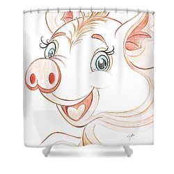 Jolly Miss Piggy Shower Curtain