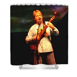 Shower Curtain featuring the photograph Jon Anderson Of Yes by Melinda Saminski