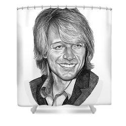 Jon Bon Jovi Shower Curtain by Murphy Elliott