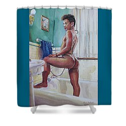Jon In The Bathtub Shower Curtain