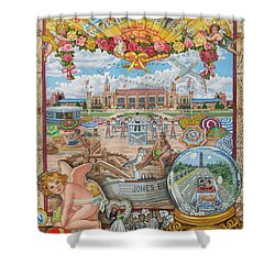 Jones Beach Love Story Shower Curtain
