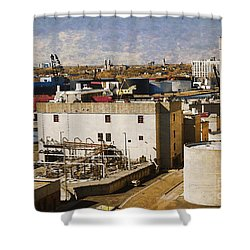 Jones Island Shower Curtain by David Blank