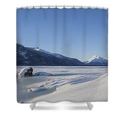 Jones Point In Winter Shower Curtain by Michele Cornelius