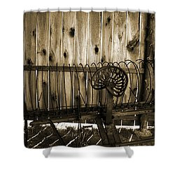 Shower Curtain featuring the photograph Jones Seat Sepia by Joanne Coyle