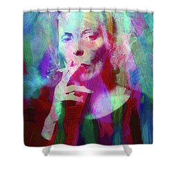 Joni Mitchell Shower Curtain
