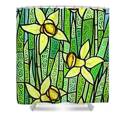 Shower Curtain featuring the painting Jonquil Glory by Jim Harris