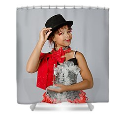 Jordan In Plastic Cup Can Can Dress Shower Curtain