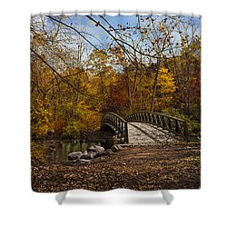 Jordan Park Bridge Shower Curtain by Judy Johnson