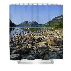 Shower Curtain featuring the photograph Jordan Pond No.1 by Mark Myhaver