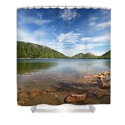 Jordan Pond Panorama Shower Curtain