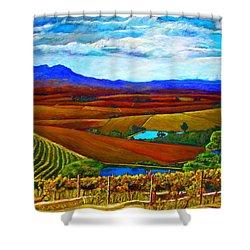 Jordan Vineyard Shower Curtain by Michael Durst