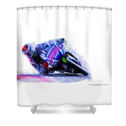 Jorge Lorenzo Yamaha Shower Curtain