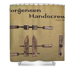 Shower Curtain featuring the photograph Jorgensen Handscrew by Tom Mc Nemar