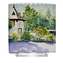Jose Moya Del Pino Library At Marin Arts And Garden Center Shower Curtain by Tom Simmons