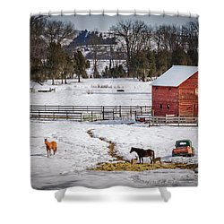 Shower Curtain featuring the photograph Joseph Oregon by Cat Connor