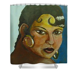 Shower Curtain featuring the painting Josephine Baker by Saundra Johnson