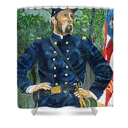 Joshua Chamberlain Shower Curtain by Bruce Schmalfuss