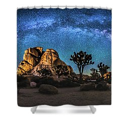 Joshua Tree Milkyway Shower Curtain by Robert Loe