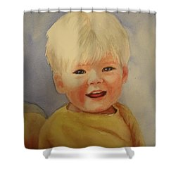 Joshua's Youngest Brother Shower Curtain by Marilyn Jacobson