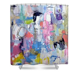 Shower Curtain featuring the painting Journal by Katie Black