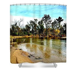 Journey To The Rivers Bend Shower Curtain