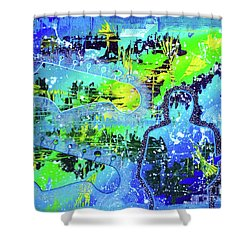 Shower Curtain featuring the painting Journeyman by Melissa Goodrich