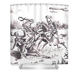 Joust Shower Curtain
