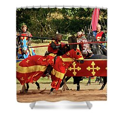 Jousting Shower Curtain by Terri Waters