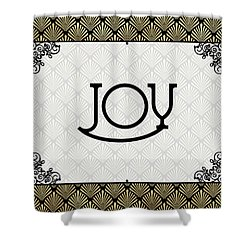Joy - Art Deco Shower Curtain