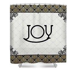Joy - Art Deco Shower Curtain