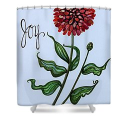Joy Shower Curtain by Elizabeth Robinette Tyndall