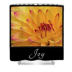 Joy Shower Curtain by Mary Jo Allen
