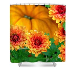 Shower Curtain featuring the photograph Joy Of Autumn by Angela Davies