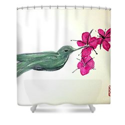 Joy Of Hummingbird Shower Curtain