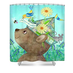 Joy Of The Journey Shower Curtain