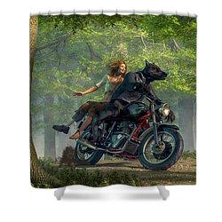 Joy Ride Shower Curtain by Daniel Eskridge