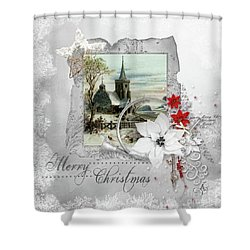 Joy To The World Shower Curtain by Mo T