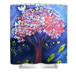 Shower Curtain featuring the painting Joy by Winsome Gunning