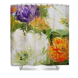 Joy With Tulips Shower Curtain
