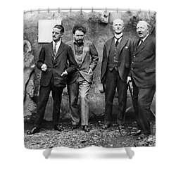 Joyce, Pound, Quinn & Ford Shower Curtain by Granger
