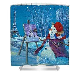 Joyeux Noel Shower Curtain by Michael Humphries