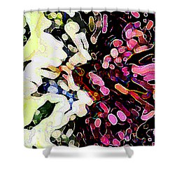 Joyful  By Rjfxx. - An  Original Abstract Art Painting Shower Curtain