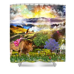 Joyful Journey  Shower Curtain by Dolores Develde
