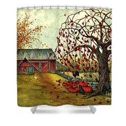 Joyful Noise Shower Curtain by Janine Riley