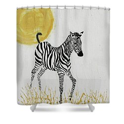 Shower Curtain featuring the painting Joyful by Stephanie Grant