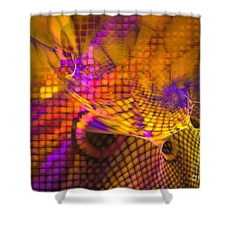Joyride - Abstract Art Shower Curtain