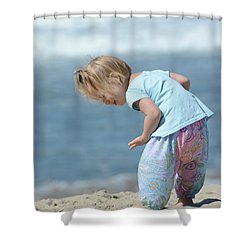 Shower Curtain featuring the photograph Joys Of Childhood by Fraida Gutovich