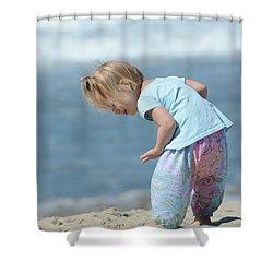 Joys Of Childhood Shower Curtain by Fraida Gutovich